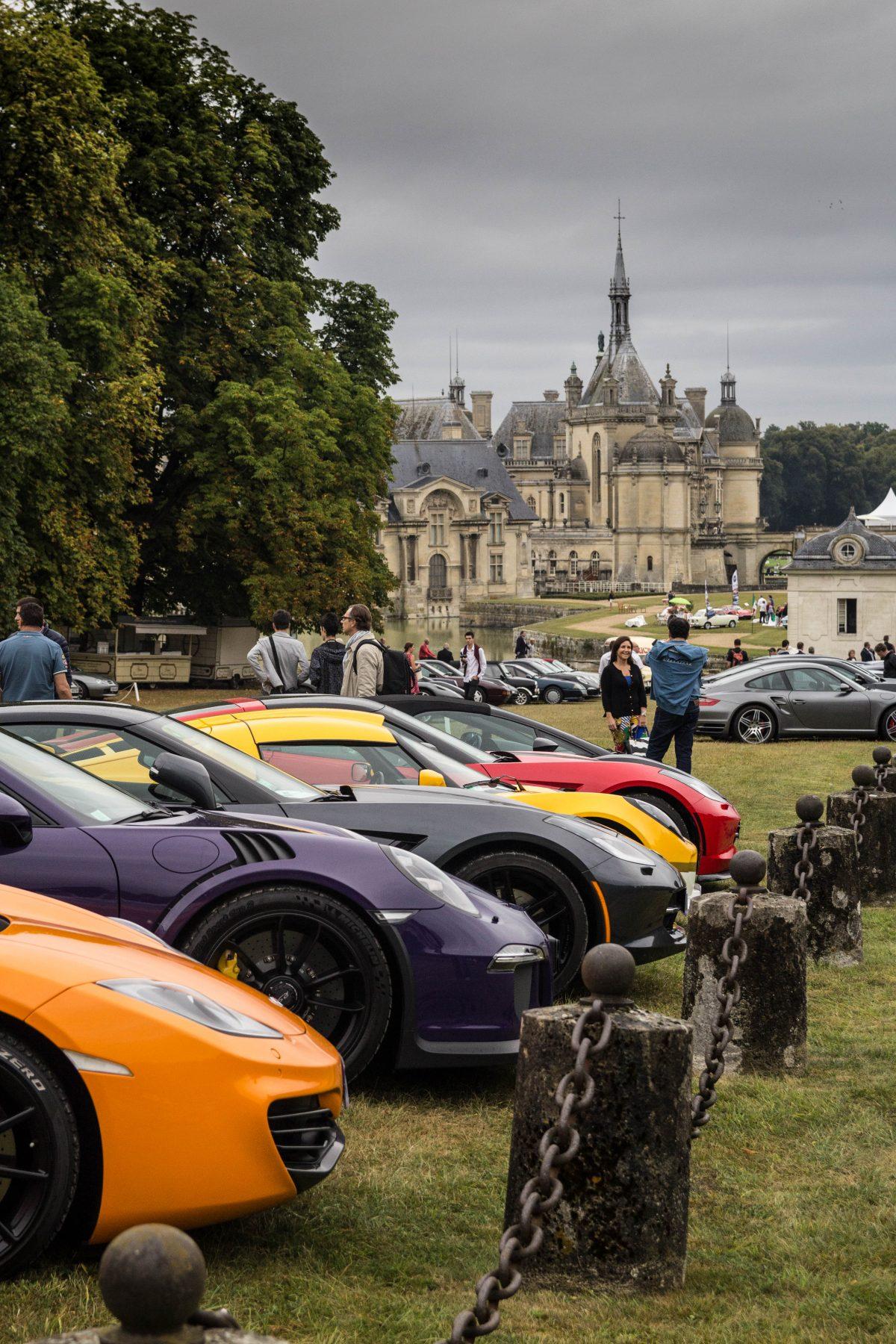 Multicolor cars.