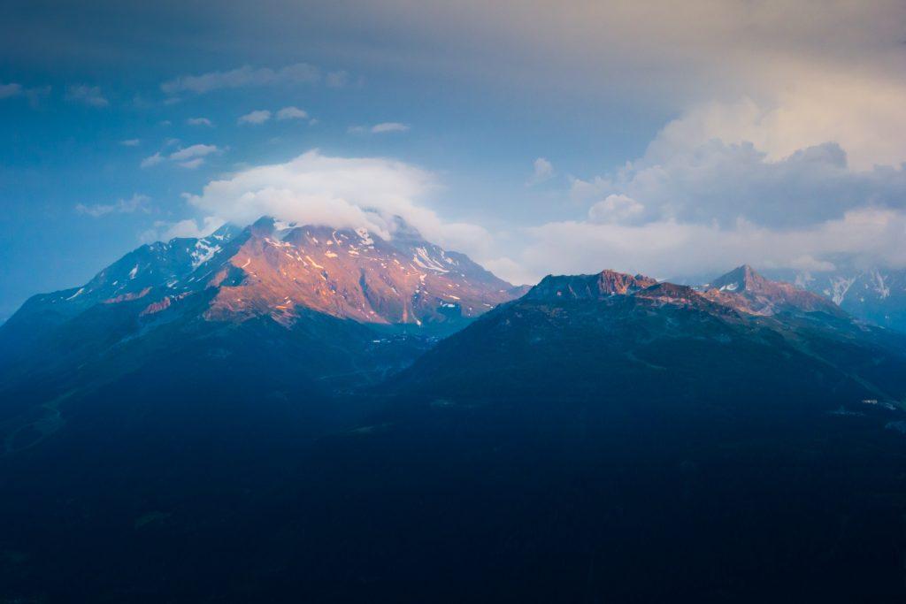 Derière c'est le mont blanc