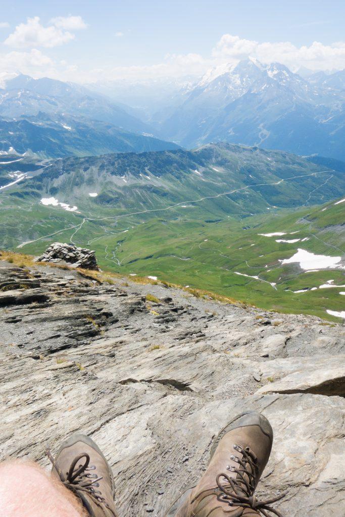 Le mont Blanc toujours caché.