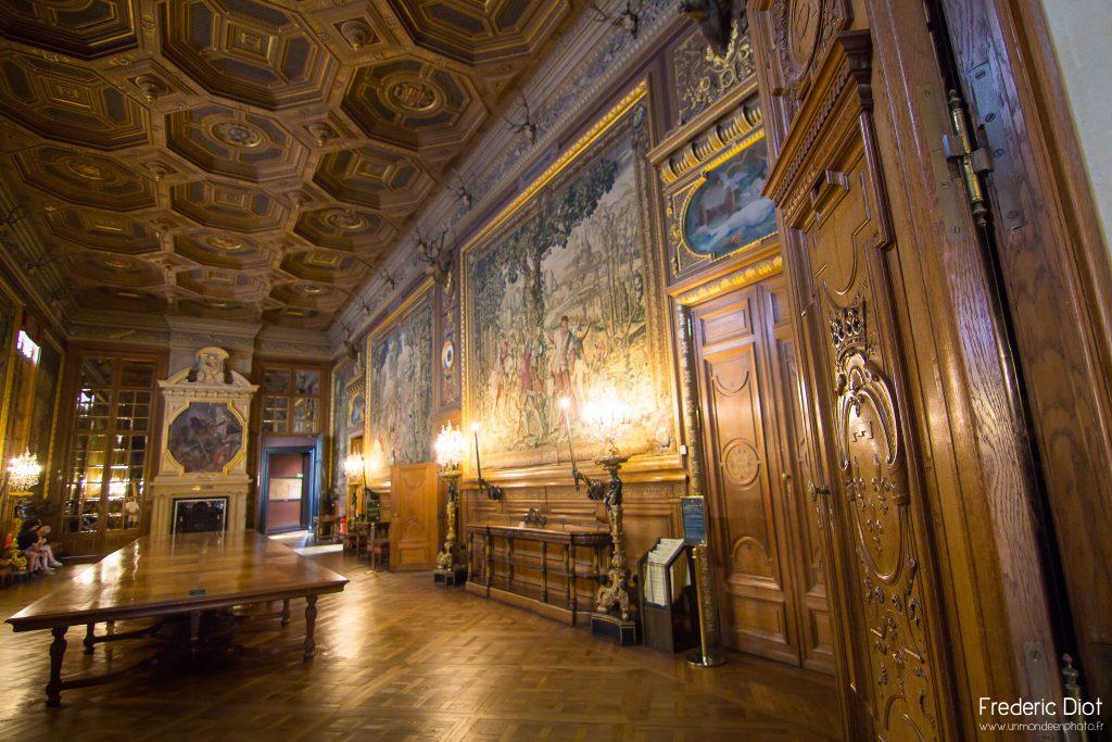 La salle de réception du Château de Chantilly