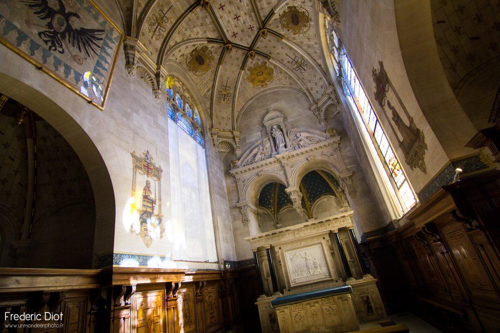 La magnifique chapelle du château de Chantilly.
